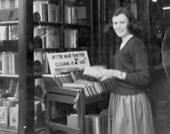 Buying books at the SPCK - late 1950s
